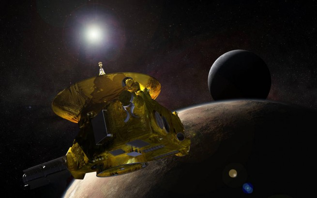 New Horizons flies through the Plutonian system image credit NASA JPL posted on SpaceFlight Insider