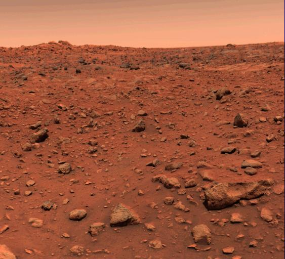 This picture of Mars was taken in July of 1976 – shortly after Viking l landed on the Red Planet. The view is roughly southeast. Photo Credit: NASA