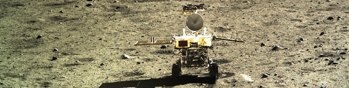 Yutu-rover on the surface of the Moon CNSA image posted on SpaceFlight Insider