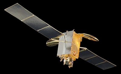Artist's rendering of Belintersat-1 satellite in space.