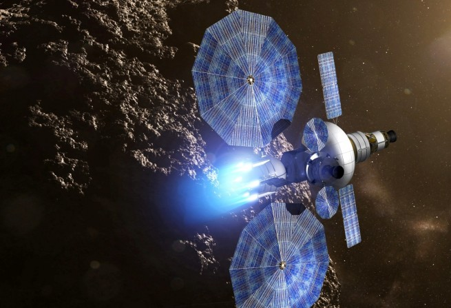NASA Solar Electric Propulsion spacecraft. NASA image posted on SpaceFlight Insider