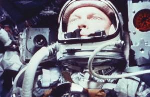 A still from the onboard 16mm camera of John Glenn during the flight of Friendship 7. Photo Credit: NASA