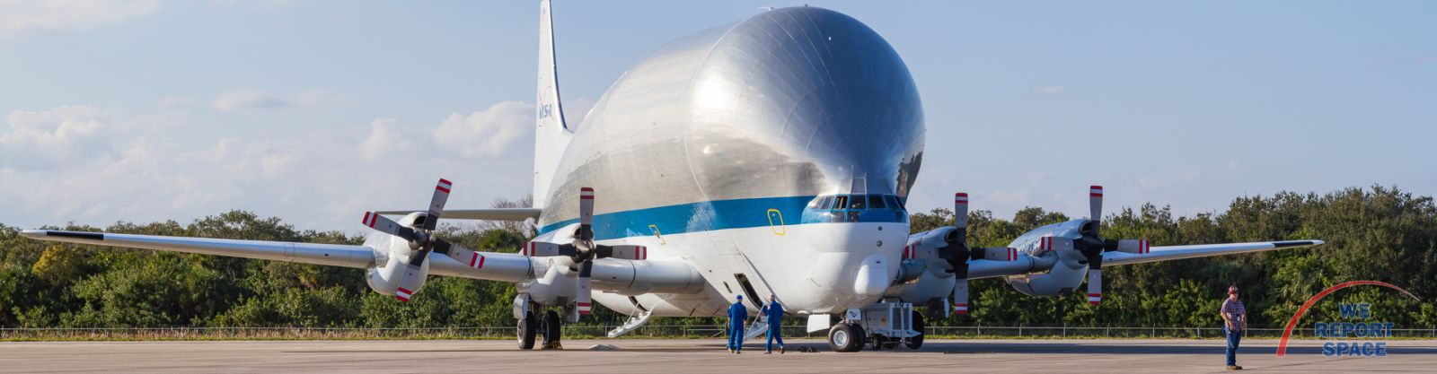EM-1 Orion arrives at NASA's Kennedy Space Center in Florida. Photo Credit: Michael Seeley / We Report Space