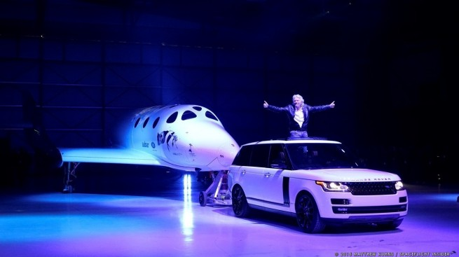 Virgin Galactic SpaceShipTwo Sir Richard Branson unveiling ceremony photo credit: Matthew Kuhns / SpaceFlight Insider