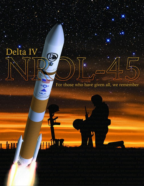 Mission logo art for NROL-45 image credit: United Launch Alliance