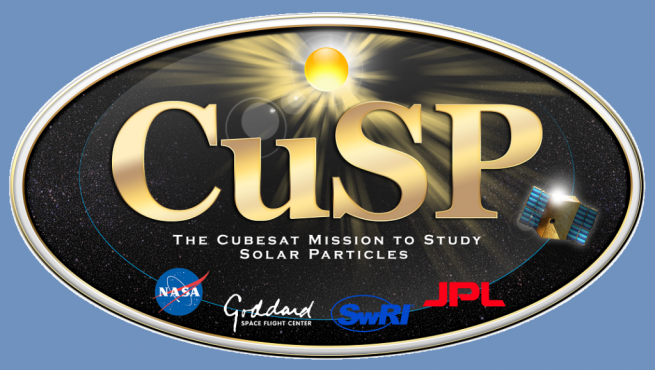 Official logo of the CuSP mission. Image Credit: Southwest Research Institute
