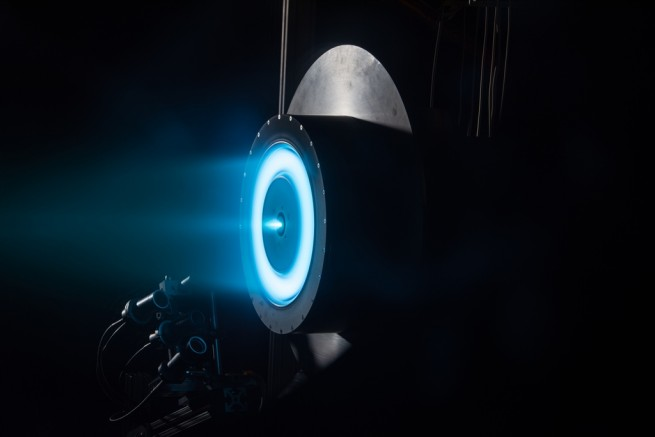 Glenn Research Center image of ion propulsion system. NASA photo posted on SpaceFlight Insider