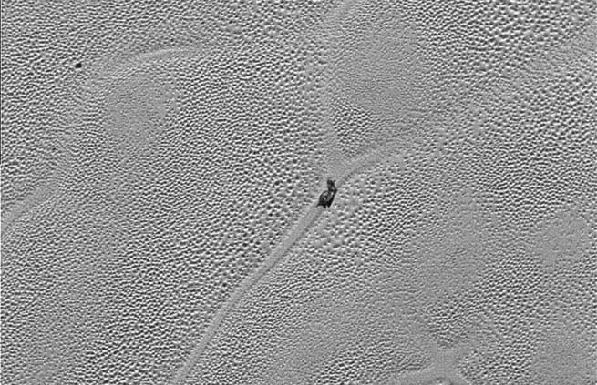x-marks-the-spot NASA New Horizons image credit NASA JHUAPL posted on SpaceFlight Insider