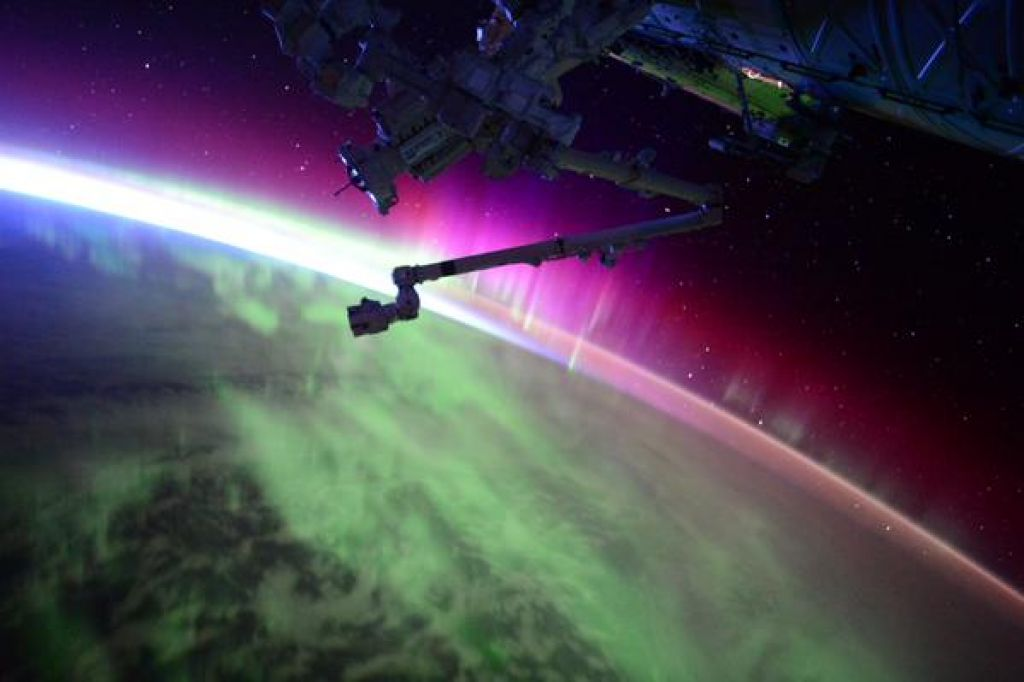 Earth's Aurora Borealis as seen from the International Space Station photo credit Scott Kelly / NASA