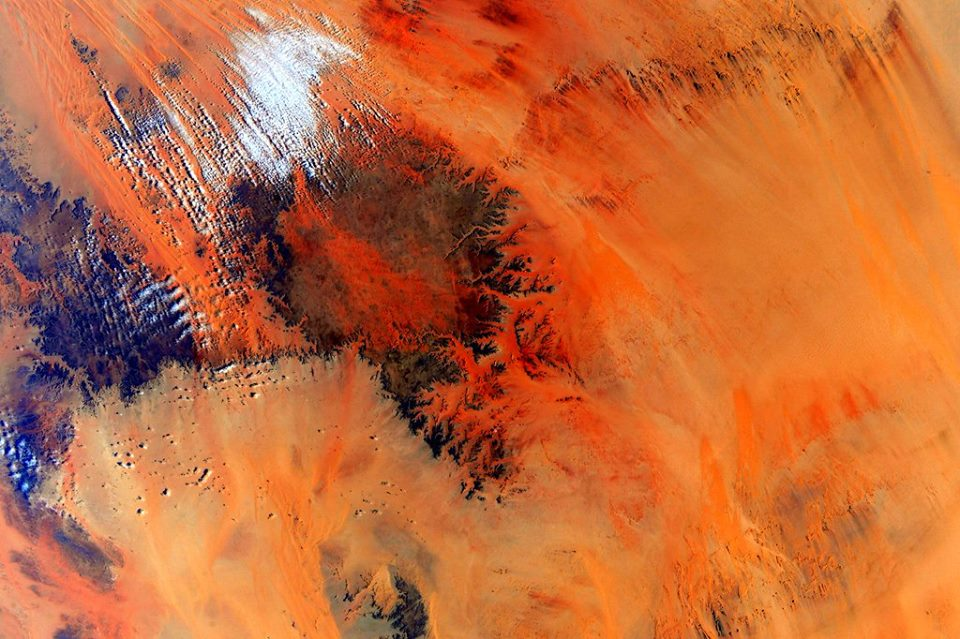 Deserts as seen by NASA astronaut Scott Kelly on the International Space Station photo credit Scott Kelly / NASA