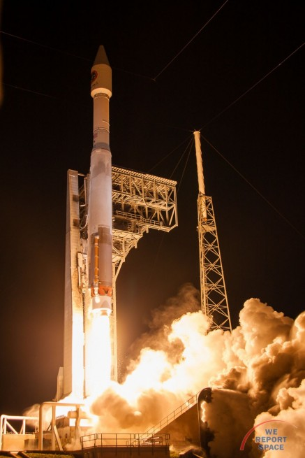 The S.S. Rick Husband launches atop a ULA Atlas V 401 rocket from Cape Canaveral Air Force Station Space Launch Complex 41 in Florida. Photo Credit: Jared Haworth / We Report Space