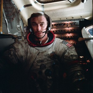 "Apollo 17 Commander Eugene Cernan photo credit Harrison ""Jack"" Schmitt / NASA posted on SpaceFlight Insider"