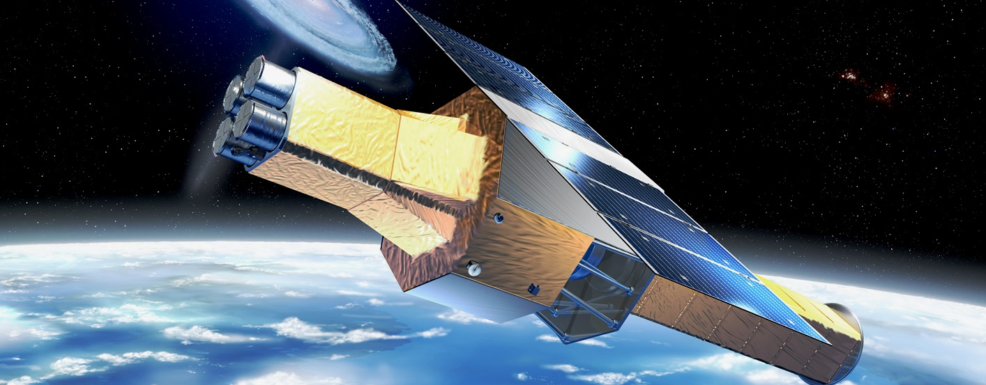 Artist's depiction of ASTRO-H Hitomi telescope on orbit JAXA image posted on SpaceFlight Insider - Copy