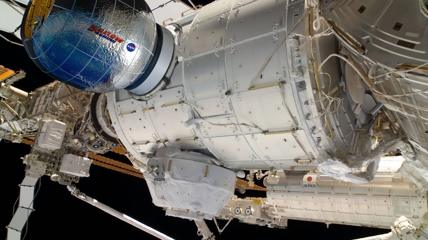 Bigelow Aerospace BEAM module affixed to the International Space Station Bigelow image posted on SpaceFlight Insider