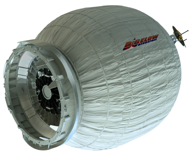 Bigelow Aerospace BEAM module which will be attached to the International Space Station. Image Credit Bigelow posted on SpaceFlight Insider