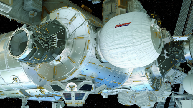 Bigelow Expandable Aerospace Module BEAM NASA image posted on SpaceFlight Insider