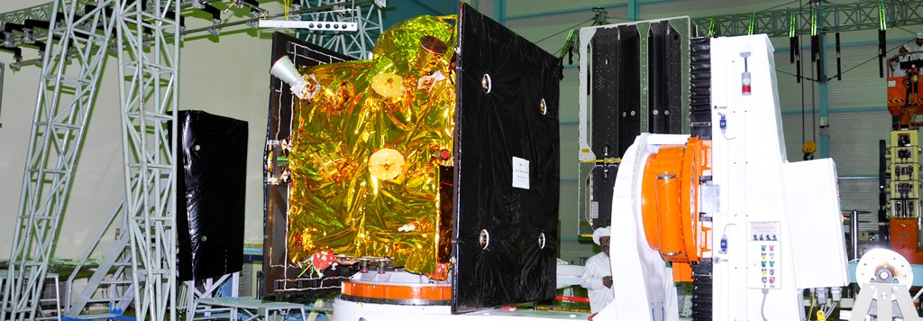 IRNSS-1F navigation satellite ISRO image posted on SpaceFlight Insider