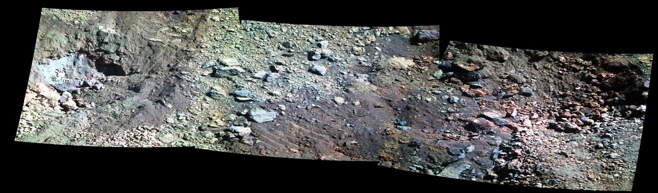 Image of Knudsen Ridge on Mars as imaged by Mars Exploration Rover Opportunity NASA JPL image posted on SpaceFlight Insider