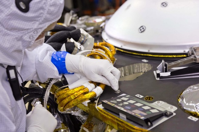 InSight signature microchip installation photo credit Lockheed Martin