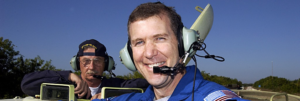 NASA astronaut Rick Husband training for STS-107. NASA KSC photo posted on SpaceFlight Insider
