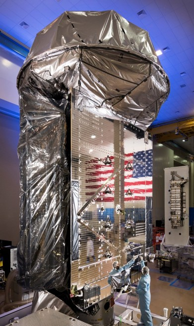 MUOS SV3 / MUOS 5 satellite photo credit Lockheed Martin posted on SpaceFlight Insider