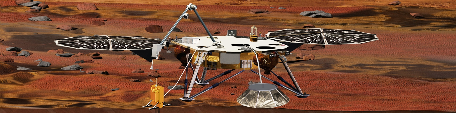 NASA InSight mission artist depiction posted on SpaceFlight Insider
