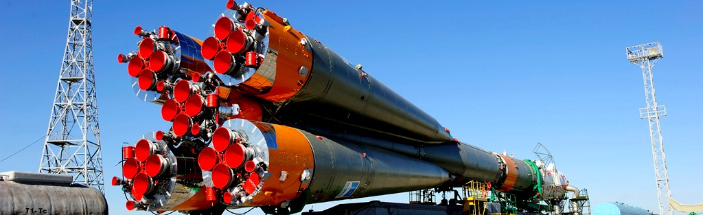 Soyuz U rocket at Baikonur Cosmodrone in Kazakhstan NASA photo posted on SpaceFlight Insider