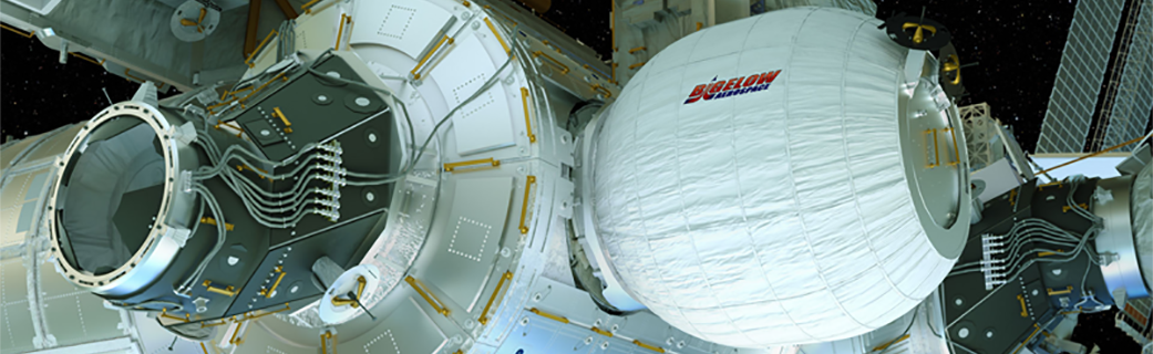 BEAM experiment attached to the International Space Station NASA - Bigelow Aerospace image posted on SpaceFlight Insider