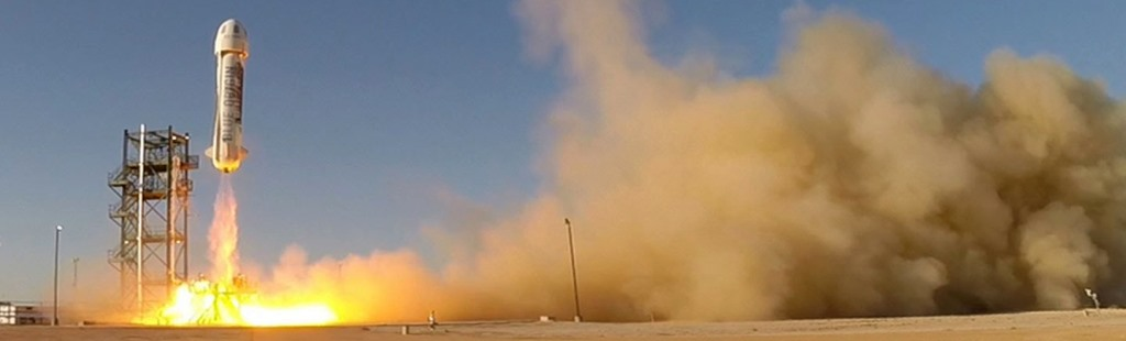 Blue Origin New Shepard rocket spacecraft launches from West Texas Blue Origin photo posted on SpaceFlight Insider