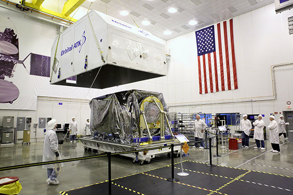 Container Close for SKYM-1 spacecraft Orbital ATK image posted on SpaceFlight Insider