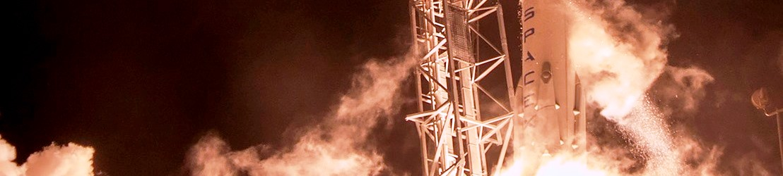 Orbcomm OG2 Falcon 9 static test fire SpaceX photo posted on SpaceFlight Insider