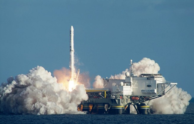 Sea Launch Zenit rocket lifts off from Odyssey Sea Launch image posted on SpaceFlight Insider