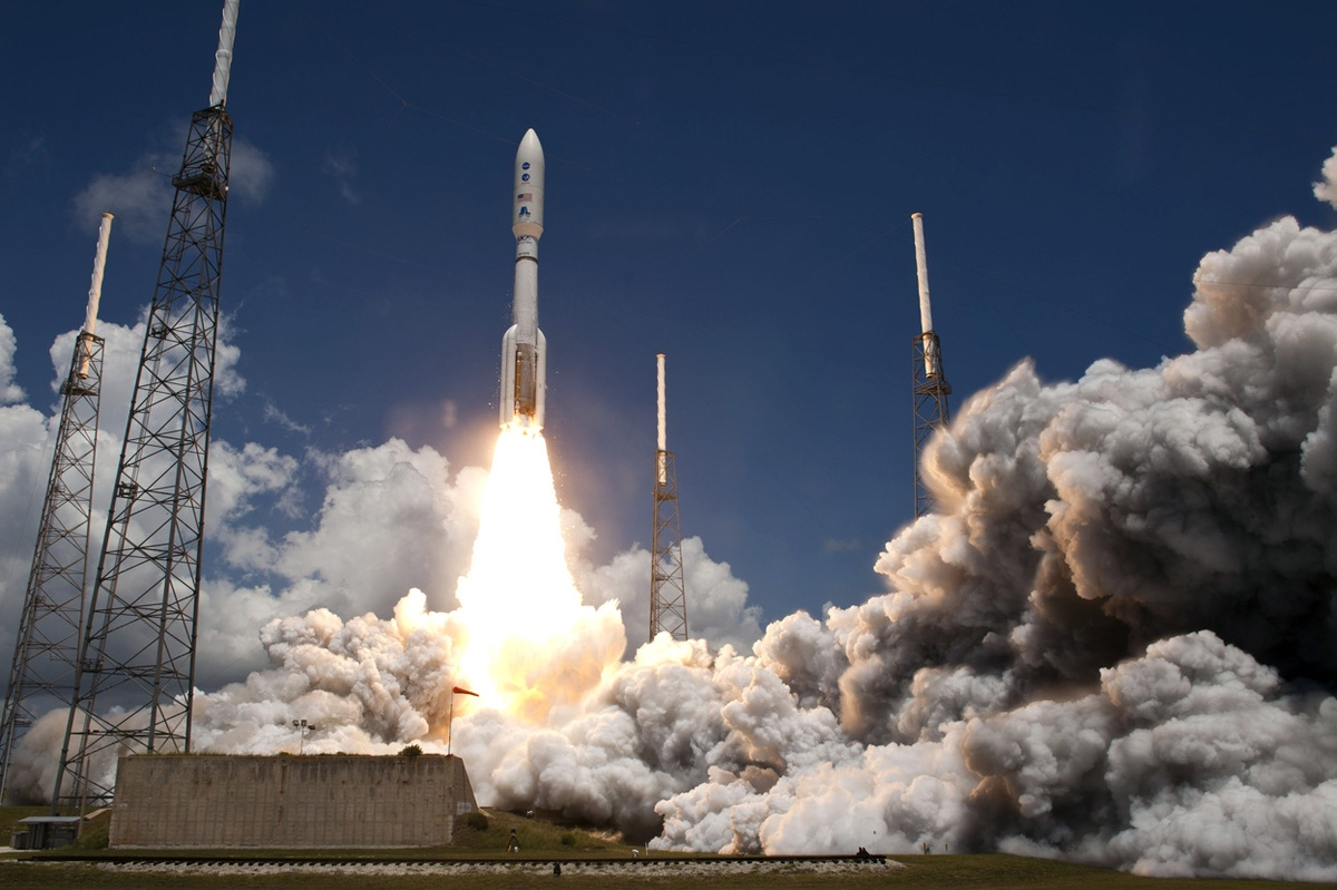 United Launch Alliance Atlas V 552 rocket launches from Cape Canaveral Air Force Station's SLC-41 in Florida. Photo Credit Scott Andrews NASA posted on SpaceFlight Insider
