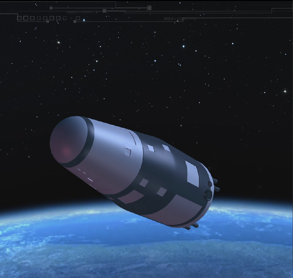 Artist's concept of the Shijian 10 spacecraft in space.
