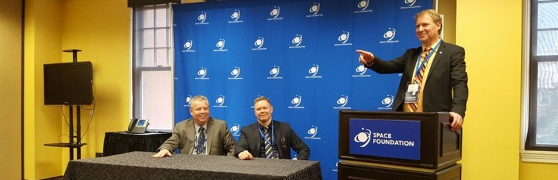 SSC unveiled its SSC Infinity service during a press conference at the 32nd Space Symposium in Colorado Springs, Colorado on Apr. 13.