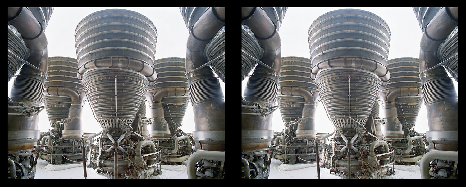 Apollo Saturn F1 Engine Cluster Diptych Roland Miller photo posted on SpaceFlight Insider with permission