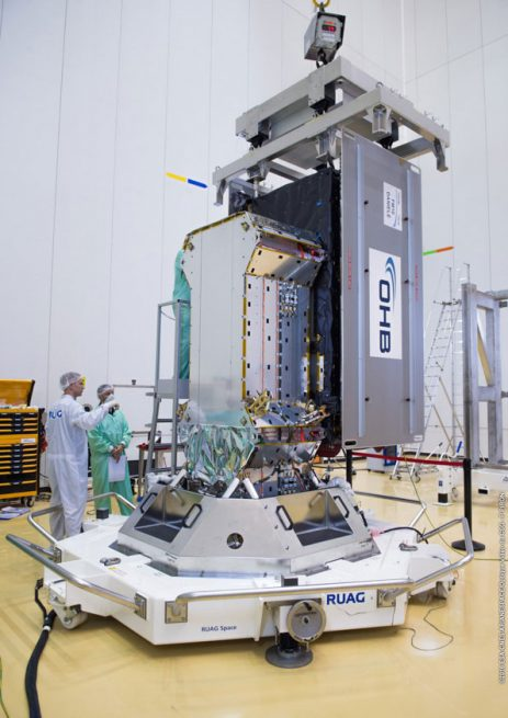 Galileo 13 satellite is shown installed on its payload dispenser system.