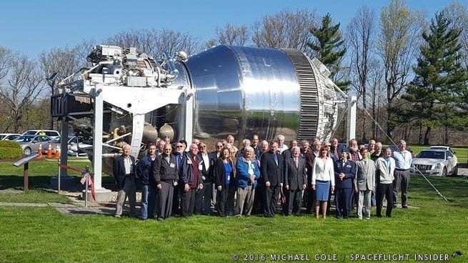 Almost forty NASA and contractor retirees were on hand for the dedication of the Shuttle-Centaur dedication ceremony held on Friday, May 6, 2016 at NASA's Glenn Research Center in Ohio. Photo Credit: Michael Cole / SpaceFlight Insider
