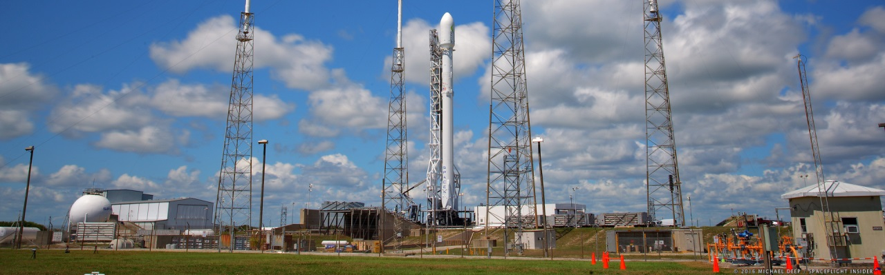 SpaceX Full Thrust Falcon 9 with Thaicom 8 telecommunications satellite at the pad at Cape Canaveral Air Force Station's Space Launch Complex 40 in Florida. Photo Credit: Michael Howard SpaceFlight Insider