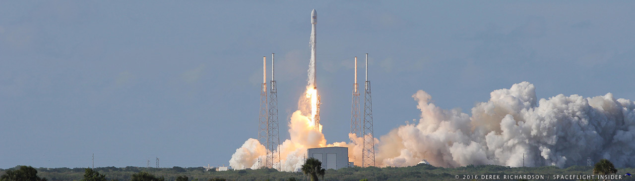 SpaceX Falcon 9 Full Thrust launches Thaicom 8 telecommunications satellite from Cape Canaveral's SLC-40 photo credit Derek Richardson SpaceFlight Insider