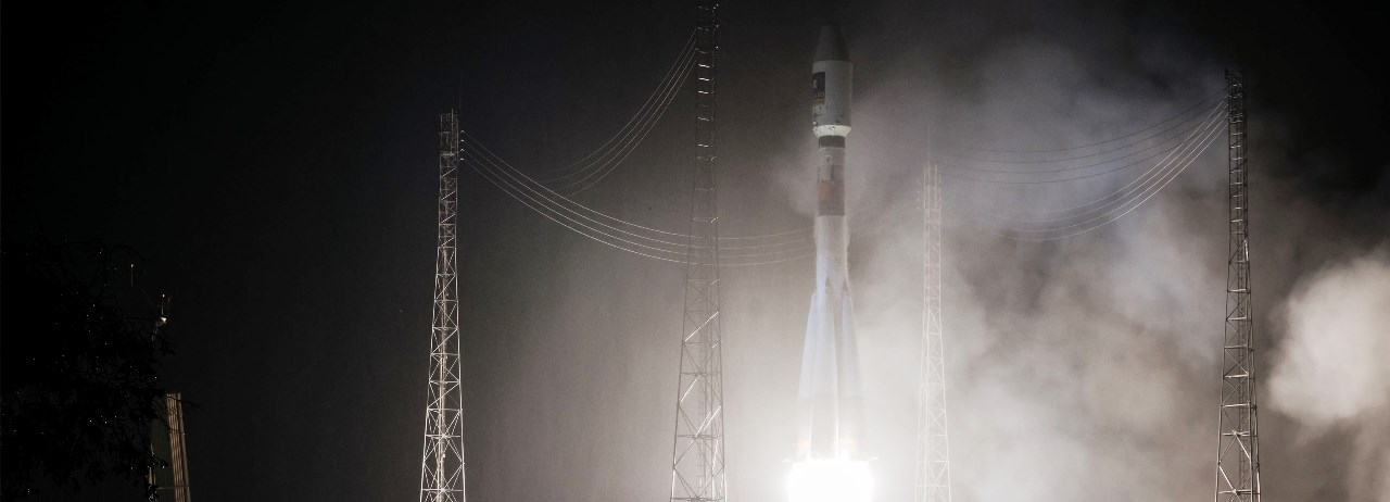 VS 15 Soyuz ST-B lifts off from Sinnamary, French Guiana photo credit Arianespace posted on SpaceFlight Insider