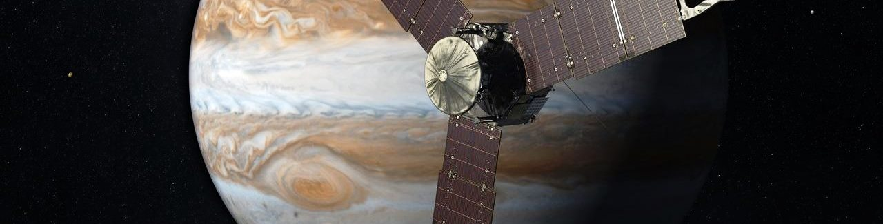 Artist's depiction of NASA's Juno spacecraft approaching Jupiter. Image Credit: JPL / NASA posted on SpaceFlight Insider