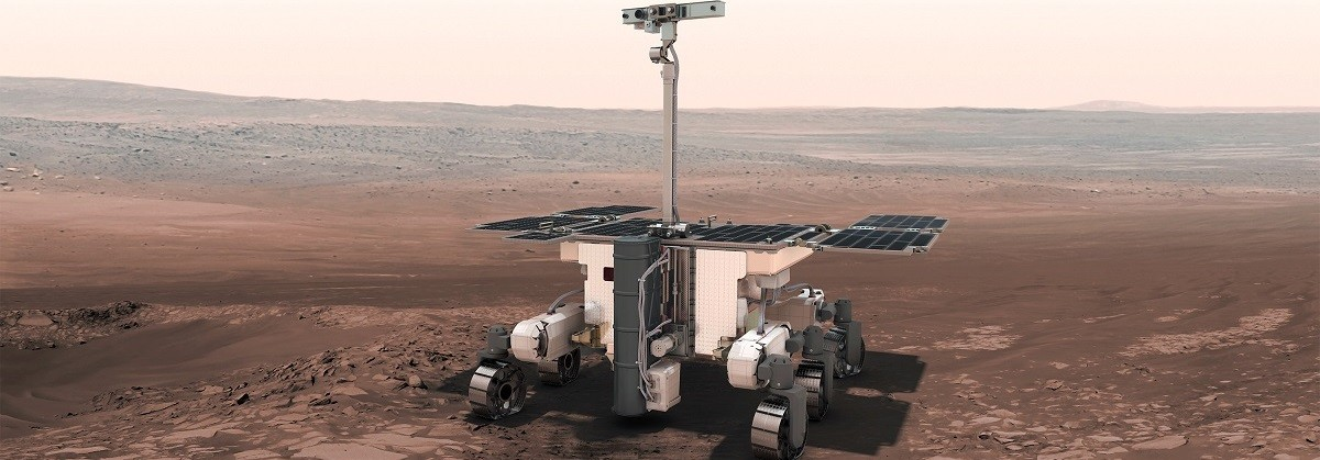 Artist's impression of the ExoMars rover.