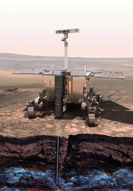 The ExoMars core drill is designed to acquire soil samples down to a maximum depth of 6.6 ft in a variety of soil types.