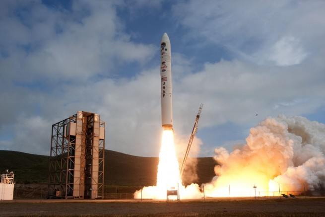 Minotaur IV launches from Vandenberg Air Force Base. USAF photo posted on SpaceFlight Insider