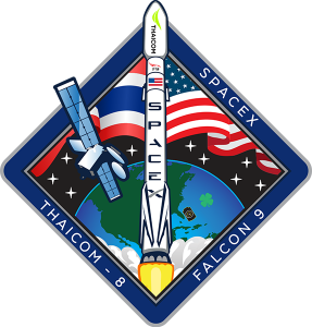 Thaicom 8 mission logo SpaceX image posted on SpaceFlight Insider