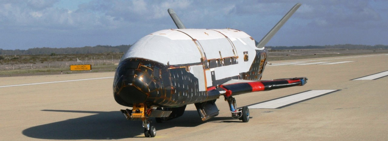 USAF X-37B space plane at Edwards Air Force Base in California photo credit USAF posted on SpaceFlight Insider - Copy
