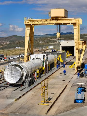 NASA and Orbital ATK are planning to test out one of the five-segment solid rocket motors that will be used on NASA's massive Space Launch System super heavy-lift rocket. Photo Credit: Orbital ATK / NASA