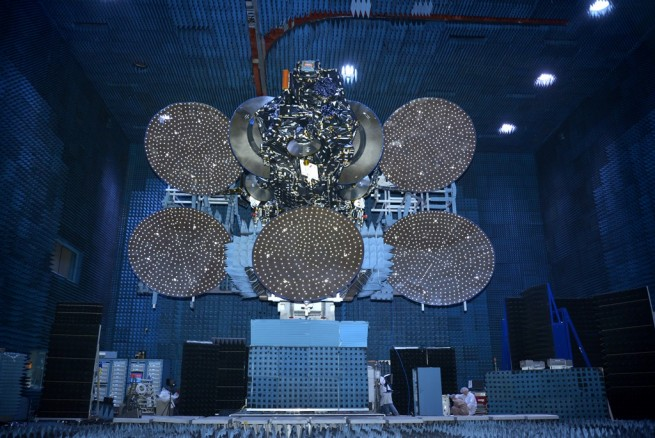 The JCSAT-14 was built for SKY Perfect JSAT by Space Systems Loral. Photo Credit: Space Systems Loral