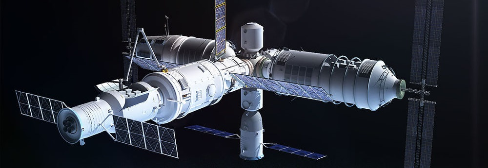 Artist's rendering of the Tiangong 3 space station.